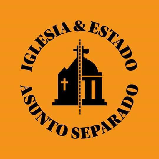iglesia y estado asunto separado bandera pañuelo naranja